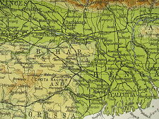 1919 LARGE MAP ~ INDIA CEYLON AFGHANISTAN PHYSICAL NEPAL WINTER RAINFALL WINDS