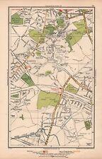 1933 Mappa di Londra-Harrow roxeth legno fine C. VERDE Sudbury Hill