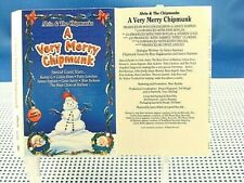 ALVIN & the CHIPMUNKS- A Very Merry Chipmunk - EXCELLENT CONDITION 1994 Cassette