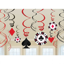 Amscan Casino Tourbillons 12-decorations