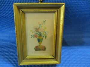Antique Framed Minature Posssibly French Print