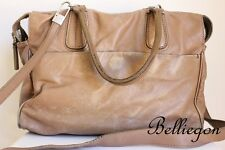 JOSEPH Taupe Brown Worn LEATHER Hand BAG Tote