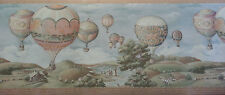 Imperial Wallcovering Vtg Hot Air Ballon Event  Wallpaper Border