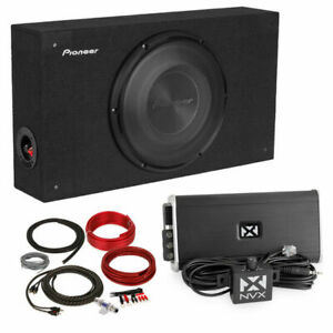 "Pioneer TS-A2500LB 10"" Loaded Sealed Enclosure + Monoblock Amplifier + Amp Kit"