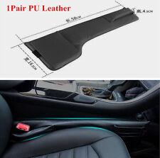 1 Pair Car Auto Black PU Leather Seat Side Gap Slit Pocket Bag Storage Organizer