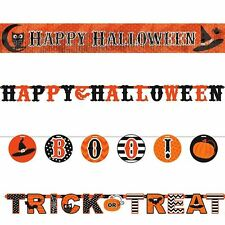 4 Pack Halloween Party Bumper Value Banner Garland Bunting Wall Decoration Kit