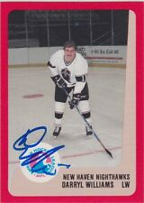 Darryl Williams Signed 1988-89 ProCards New Haven Nighthawks Card NY Rangers