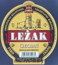 Poland Brewery Ciechanów Ciechan Leżak Beer Label Bieretikett Cerveza ci91.2