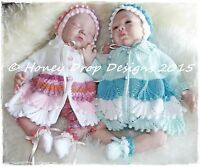 Honeydropdesigns SEA FOAM (2 Sizes) * PAPER KNITTING PATTERN * Reborn/Baby