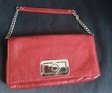 Original Oroton scarlet red clutch handbag