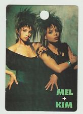 1980s UK Pop Star Card Get Fresh At The Weekend Group Mel and Kim Appleby