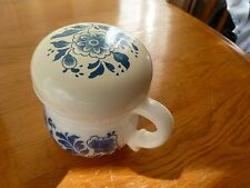 Avon Vintage Delft Blue Pattern Cup with lid