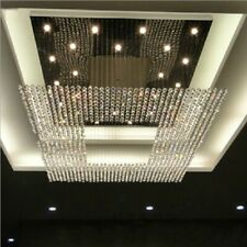 "31.5"" crystal chandelier LED light lamp Living Room Ceiling Curtain Pendant"