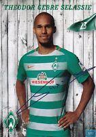 Theodor Gebre Selassie (23) + Werder Bremen + Saison 2016/2017 + Autogrammkarte