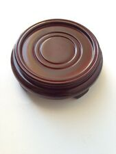 """3.25"""" ORIENTAL CHINESE VASE POT HAND CARVED ROSEWOOD BOWL STAND BASE"""