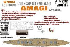 Hunter 1/700 w70041 Madera Deck Ijn Acorazado Amagi para Fujimi