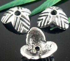 100Pcs Tibetan Silver Nice Flower Bead Caps Findings 10mm (Lead-free)