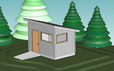 Shed Plans Blueprints 10 Ft x 14 Ft Modern Style