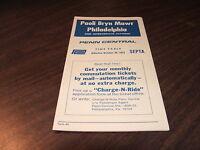 OCTOBER 1972 PENN CENTRAL FORM 40 PHILADELPHIA-PAOLI  PUBLIC TIMETABLE