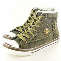 New Mens Boys High Hi TopTrainers  Canvas Shoes Ankle Boots In UK Sizes 7-12