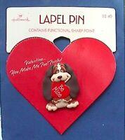 Hallmark PIN Valentines Vintage DOG Basset Hound HEART SEBASTIAN Be Mine NEW