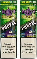 JUICY HEMP WRAPS KING SIZE ROLLING PAPERS 2 PACK (4 PCS) GRAPE (PURPLE)