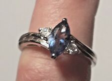 Designer HMI Tanzanite w/Accents Ring in Sterling Silver Size 8 NWOT GREAT GIFT