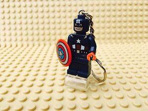 Marvel Captain America Avengers Mini Figure Keyring / Keychain UK SELLER