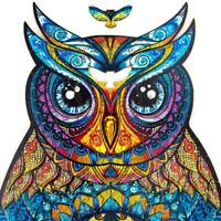 15MM FREE STANDING 15CM HIGH MDF CRAFT SHAPE WOODEN 3D OWL