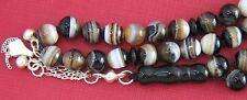 Prayer beads worry beadsTesbih Komboloi Sardonyx and Sterling Silver
