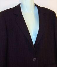 MARKS AND SPENCER LADIES PIN STRIPE BLAZER JACKET UK SIZE 14p