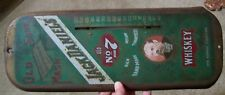 METAL JACK DANIELS WHISKEY THERMOMETER  SIGN AS IS ADVERTISING COLLECTIBLE