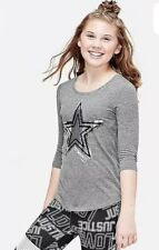 Justice Girl's Size 18-20 GYMNAST Flip Sequin Three Quarter Sleeve Tee New