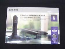 WIRELESS WFI USB NETWORK ADAPTER DONGLE BELKIN F5D8053AU N 802.11N 802.11G B