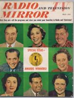 ORIGINAL Vintage May 1950 Radio TV Mirror Magazine Awards Winners Bob Hope