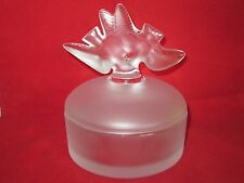Lalique Clear and Frosted Double Dove Powder box for Nina Ricci L'Air du Temps