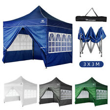 More details for heavy duty gazebo pop-up waterproof marquee canopy garden patio party tent 3x3m