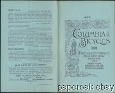 Original 1892 Columbia Bicycles By Pope Manufacturing Co. Promotional Booklet