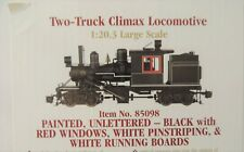 NEW BACHMANN G SCALE PAINTED,UNLETTERED TWO-TRUCK CLIMAX