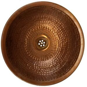 Rustic Bathroom Copper Dome Sink Washbasin Bowl Toilet lavatory Wash Room Basin