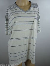 V Neck Short Sleeve Striped Casual Other Tops for Men