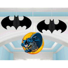 Batman Honeycomb Decorations (3) ~ Birthday Party Supplies Hanging Dc Comics