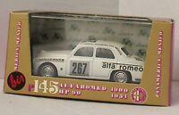 BRUMM R145B ALFA ROMEO 1900 diecast model racing car white body  Mexico 1:43