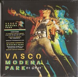 BOX VASCO ROSSI MODENA PARK 01 07 17 SIGILLATO LIM.NUM.CD+POSTER+ADESIVO+BOOKLET