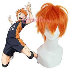 USA Ship Haikyuu Hinata Syouyou Orange Short Curly Hair Anime Cosplay Wigs
