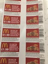 200 x McDonald's Food    (no printed date on back)so valid indefinitely 👍🙂