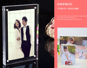 Acrylic Magnet Photo Frame 82x56mm Clear Holder Display Picture Storage Decor