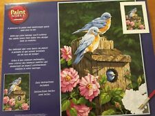 Paint by Numbers Craft Kit Bluebirds and Birdhouse