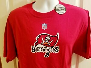 Tampa Bay Buccaneers NFL Reebok Sideline Short Sleeve T Shirt Red X-L