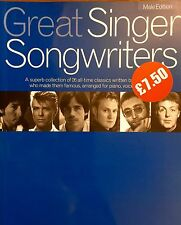 Great Singer Songwriters Male Edition Study Of 26 Great Artistes  Music Book